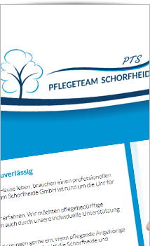 Website PTS Pflegedienst Schorfheide Finowfurt